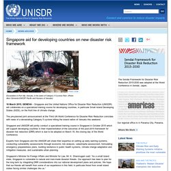 Singapore aid for developing countries on new disaster risk framework - UNISDR