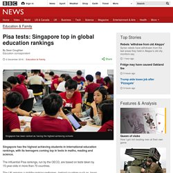 Pisa tests: Singapore top in global education rankings