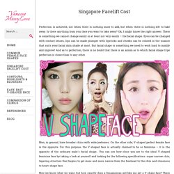 My Facelift Advices. The Best Thread Lift Cost and V Lift Cost in Singapore.