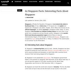 62 Singapore Facts: Interesting Facts About Singapore - The Fact File