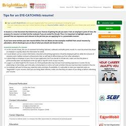 Singapore Jobs Resume Samples