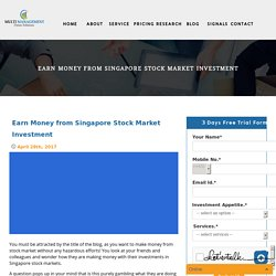 Earn Money from Singapore Stock Market Investment