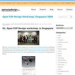 Open P2P Design Workshop: Singapore 2009