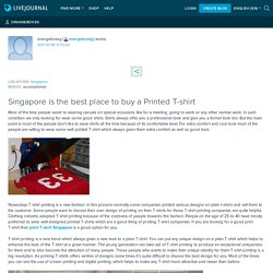 Singapore is the best place to buy a Printed T-shirt: orangeboxsg
