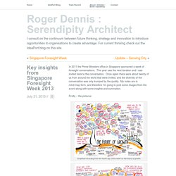 » Key insights from Singapore Foresight Week 2013 Roger Dennis : Serendipity Architect