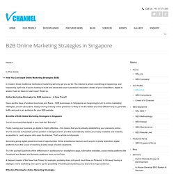 B2B Online Marketing Strategies in Singapore