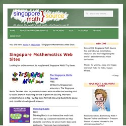 Singapore Math websites