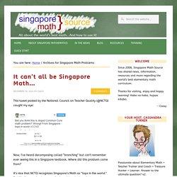 Singapore Math Problems