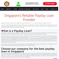 Best Payday Loan in Singapore, Trusted Loan Provider - Fast Money