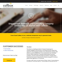 Singaporean Research and Consulting Company Strides into US Market with Callbox - B2B Lead Generation Company Malaysia