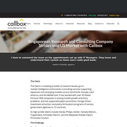 Case Study: Singaporean Research and Consulting Company Strides into US Market with Callbox