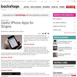 Useful iPhone Apps for Singers