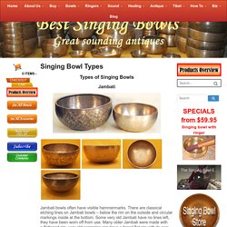 Singing Bowl Types - Best Singing Bowls