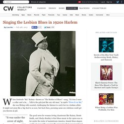 Singing the Lesbian Blues in 1920s Harlem
