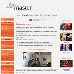 Free Singing Lessons From Hollywood Vocal Coach