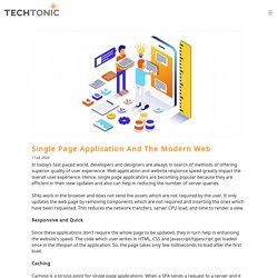 Single Page Application And The Modern Web