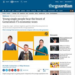 Young single people bear the brunt of Generation Y's economic woes