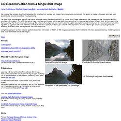 Single Image 3D Reconstruction