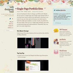 Single-Page Portfolio Sites