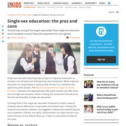 Single-sex education: the pros and cons