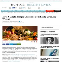 How A Single, Simple Guideline Could Help You Lose Weight