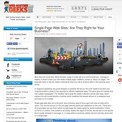 Single-Page Web Sites: Are They Right for Your Business?