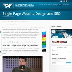 Single Page Website Design and Search Engine Optimization, What Works?