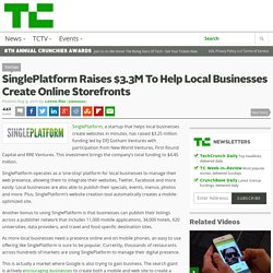 SinglePlatform Raises $3.3M To Help Local Businesses Create Online Storefronts