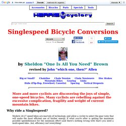 Singlespeed Bicycle Conversions
