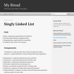 Singly Linked List - My Bread
