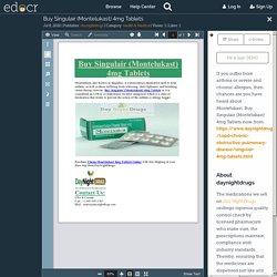 Buy Singulair (Montelukast) 4mg Tablets
