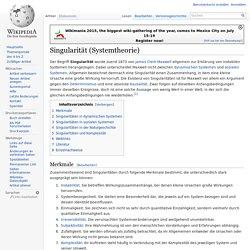Singularität (Systemtheorie)