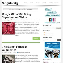 Singularity and Futurism: augmented reality