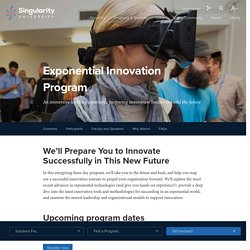 Singularity University Exponential Innovation Program