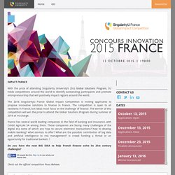Concours Innovation 2015 France