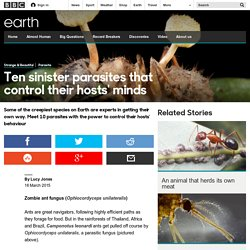 Earth - Ten sinister parasites that control their hosts' minds