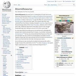 Sinornithosaurus (WIKI) [EN]