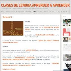 CLASES DE LENGUA.Aprender a aprender.