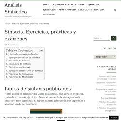 Sintaxis. Ejercicios, prácticas y exámenes