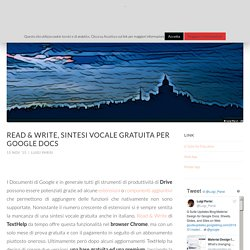 Read & Write, sintesi vocale gratuita per Google Docs