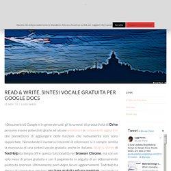 Read & Write, sintesi vocale gratuita per Google Docs