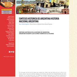 Sintesis Historica de Argentina Historia Nacional Argentina