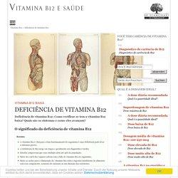 Sintomas de vitamina B12 baixa