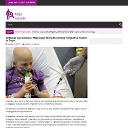 Sintomas ng Leukemia: Mga Dapat Mong Malamang Tungkol sa Kanser sa Dugo