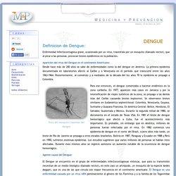 Dengue: sintomas, tratamiento, mosquito agente trasmisor