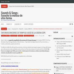 Sintonías y canciones de Tiempo de Juego de la Cadena COPE