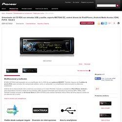 DEH-X3700UI Sintonizador de CD RDS con entradas USB y auxiliar, soporta MIXTRAX EZ, control directo de iPod/iPhone y Android Media Access (1DIN) - Pioneer Radio para coche