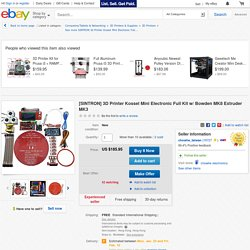 [SINTRON] 3D Printer Kossel Mini Electronic Full Kit w/ Bowden MK8 Extruder MK3