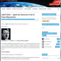 Adolf Hitler – Agent du Sionisme et de la Franc-Maçonnerie