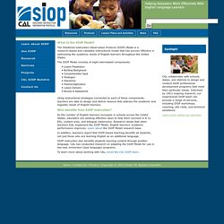 SIOP - Learn about SIOP
